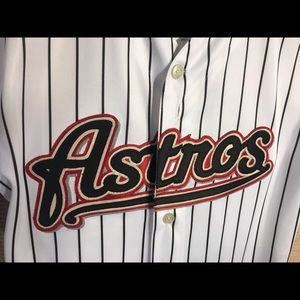 NEW Houston Astros Roger Clemens Majestic Jersey L